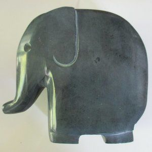 Grey Elephant heavy stone bookend or doorstop